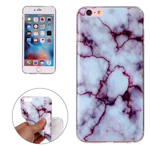iPhone Case Cover Pour iPhone 6 Plus & 6s Plus motif de marbrage noir Soft TPU étui de protection arrière ( SKU : Ip6p0927e ) Ip6p0927c