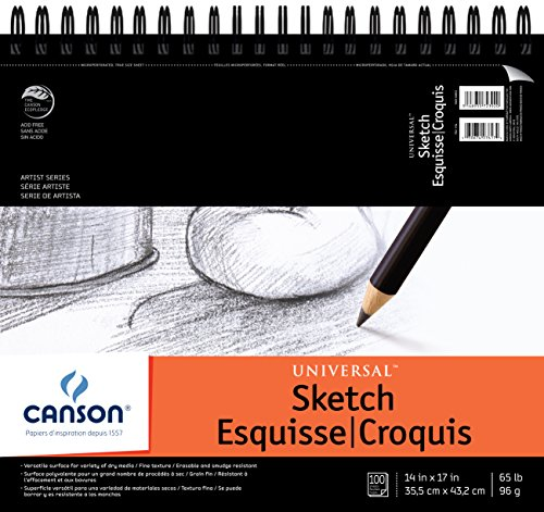 ARTIST SERIES UNIVERSAL SKETCH PAD  14X17 WIRE BOUND BY CANSON