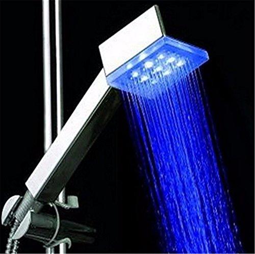 GS~LY contemporaneo LED blu Modifica colore doccia a mano