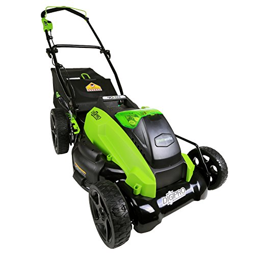 Greenworks Tools 2500407 45 cm Tondeuse à gazon Brushless sans fil 40V  Lithium-ion (sans batterie ni chargeur)
