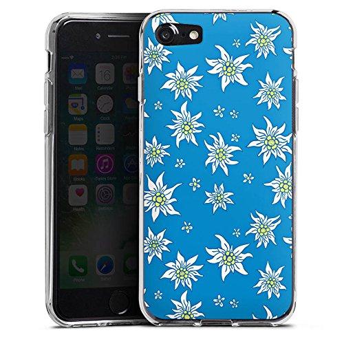 Apple iPhone X Silikon Hülle Case Schutzhülle Blumen Edelweiss Sommer Silikon Case transparent
