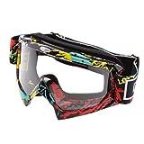 MagiDeal Gafas Prueba de Viento con Banda Elástica Ajustable para Esquí Motociclismo - Claro