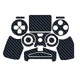 Sticker autocollant aspect carbone 3D skin pour manette PS4 Noir