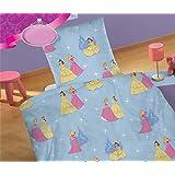 Kinder Bettwäsche 135x200 Microfaser Cinderella Schneewittchen Neu, Farbe:Hellblau