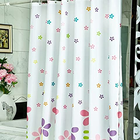 WLH divertimento fiori moda stampa poliestere tenda della doccia/Bagno imbottito