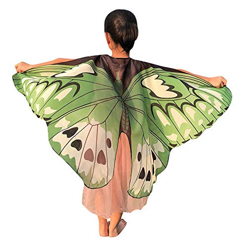 Flügel Kostüm Graue - CUTUDE Faschingskostüme Kind Kinder Jungen Mädchen 146 * 70CM Weiche Gewebe Schmetterlings Flügel Schal Pixie Cosplay Karneval Kostüm Weihnachten Kostüm