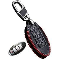 Housse étui en cuir véritable pour porte-clés Nissan qashqai juke almera  tiida x sac 4d8889ecdc8