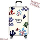 Set da viaggio copri bagagli, 18-32 bagaglio a rotolamento per servizio pesante, durata migliorata dei bagagli, motivo stampato Interessante ( Colore : Coral Flower , Dimensione : For S 18-21inch )