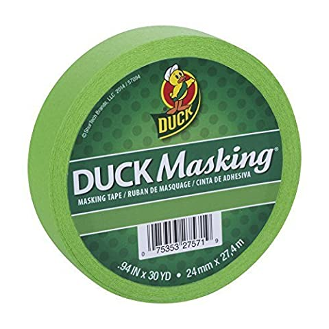 Duck Masking 240882 Light Green Color Masking Tape, .94-Inch by 30 Yards by Duck (30 Yd Masking Tape)