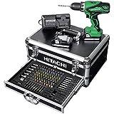 Hitachi DS18DJL WK taladro atornillador 2x 18V 1,5Ah + 100accesorios