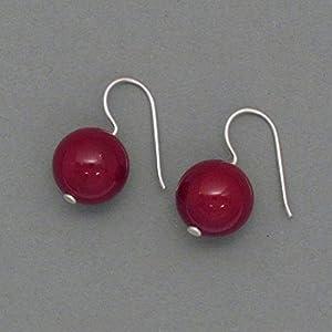 Ohrhänger Rote Muschelkernperlen