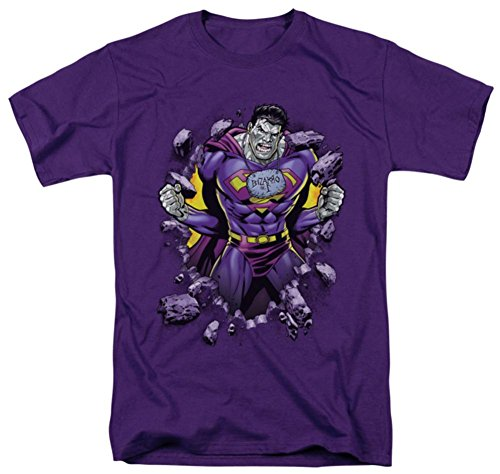 Superman DC Comics Bizzaro Breakthrough T-Shirt für Erwachsene, Violett - Violett - X-Groß