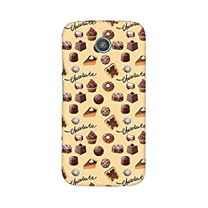 Mobicture Chocolate Overflow Designer Printed Hard Case Cover - [Hard Poly Carbonate] [Slim-fit] [Shock-Proof] Back Cover for Moto E