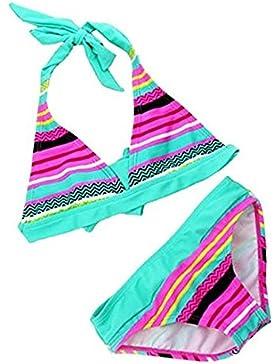 iBaste Traje de Baño Niñas de Spa Bikini de Color del Arco Iris Biquini de la Moda 2016 Nuevo