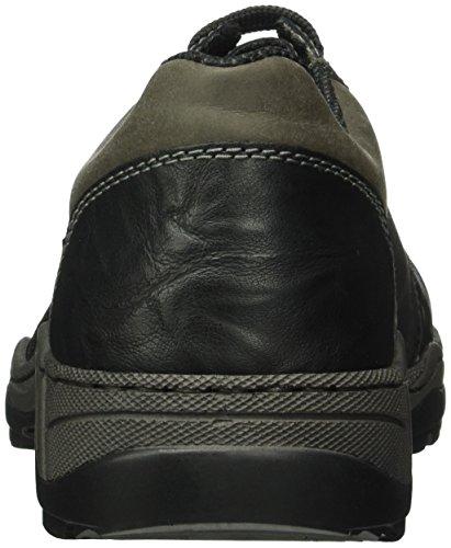 Rieker 14713, Scarpe Stringate Basse Oxford Uomo Nero (schwarz/schwarz/graphit / 01)