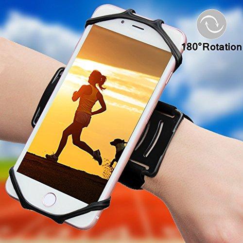 Sportarmband Handyhalterung 180°Drehbar - Universell Passend für 4 to 5,5 inch iPhone 6 7 Plus Samsung Galaxy S7 S8 Edge für Joggen Laufen Radfahren Wandern Angeln