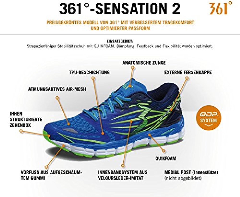 361 Hombres Zapatilla Estabilidad 361-sensation 2 Y701 42,5 7-up/negro
