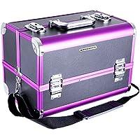 Songmics® Beauty Case con specchio organizzatore mini caso maniglia e