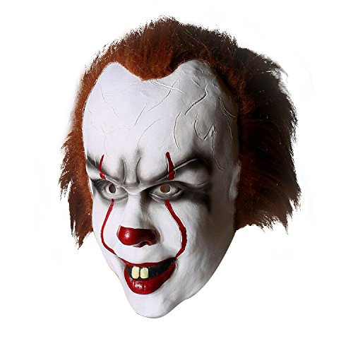 Horror Clown Maske Halloween Latex Kopfmaske mit ()