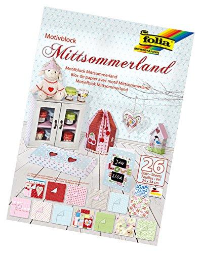Motivblock Mittsommerland 24x34cm, 26 Blatt sortiert