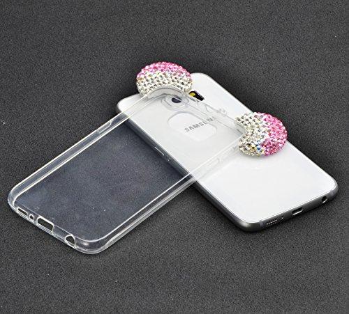 Cover Samsung Galaxy Note 5 N9200 360 Gradi,Custodia Full Body Samsung Galaxy Note 5 N9200,Fronte Retro trasparente Ultra Sottile Silicone Case Molle di TPU Sottile 3 in 1 Protezione Completa Glitter  design 06