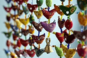 20-Bird Bell Tota Traditional Indian Hanging Decoration