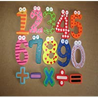 Magnetic Wooden Numbers Math Set Digital Baby Educational Toy Wall Stickers