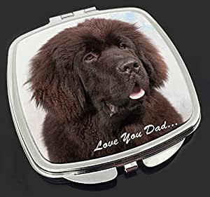 Neufundland-Hund 'Love You Dad' Make-up Taschenspiegel Weihnachtsgeschenk