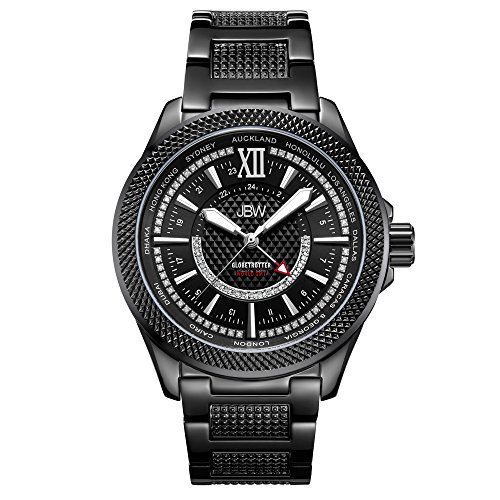 JBW Men's 10 YR Anniversary GMT Globetrotter 0.21 ctw Diamond Watch J6365-10C