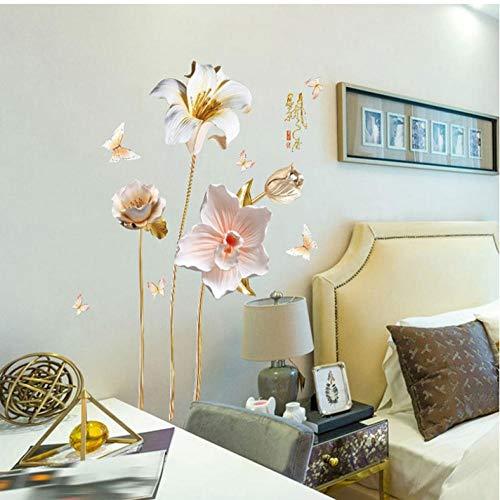 til Orchideen Blumen Wandaufkleber Für Wohnzimmer Dekoration Kunst Aufkleber Schlafzimmer Mädchen Raum Aufkleber ()