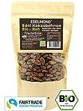Edelmond Fair Trade Kakaobohnen rohe Bio Frischware. Von der kleinen Kakaofinca. Bio ohne Insektizide, eine Edel-Schokoladen Bohne. 500g