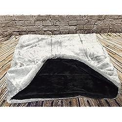 Snuggle saco/saco de dormir/Mascotas Cama para perros y gatos por Pet de Lola, color gris y negro