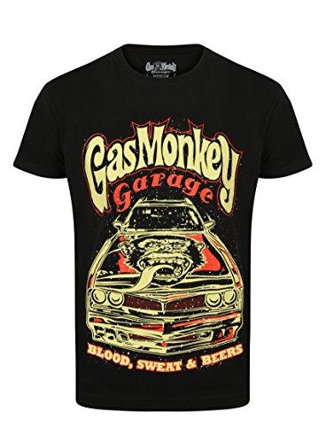 Herren Gas (Gas Monkey Garage T-Shirt Camaro, Größe:3XL, Farbe:black)