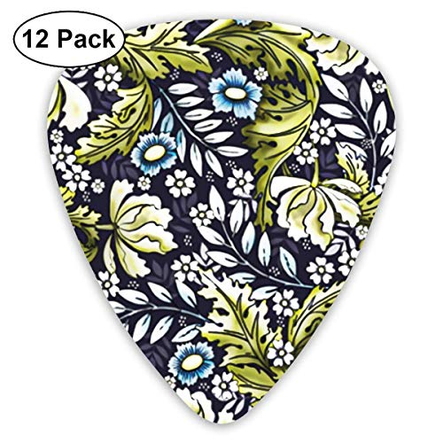 Victorian Era Floral Art 351 Shape Classic Celluloid Guitar Pick For Electric Acoustic Mandolin Bass (12 Count) Victorian Tool