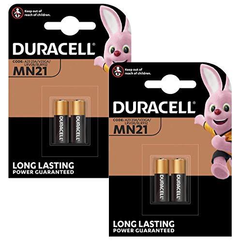 4X Duracell Alkaline Sicherheit A23 / K23A LRV08 GP23 12V MN21 2017 LRV08 V23GA LR23A 2665c 23A L1028 Einweg-Batterie