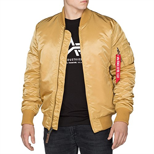 Alpha Industries Herren Bomberjacke Gold