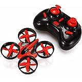 EACHINE E010 Mini UFO Cuadricóptero Drone 2.4G 4CH 6 Axis Headless RC Nano Teledirigido Quadcopter RTF Modo 2 (Rojo)