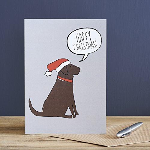 Schokolade Labrador Weihnachten Karte