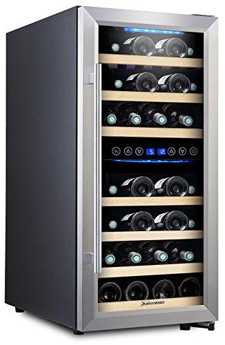 Kalamera KRC-73BSS Design Weinkühlschrank für bis zu 73 Flaschen (bis zu 310 mm Höhe),weinkühler...