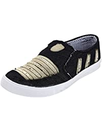 Orchid Trendy Black Slip-On Style Casual Shoes