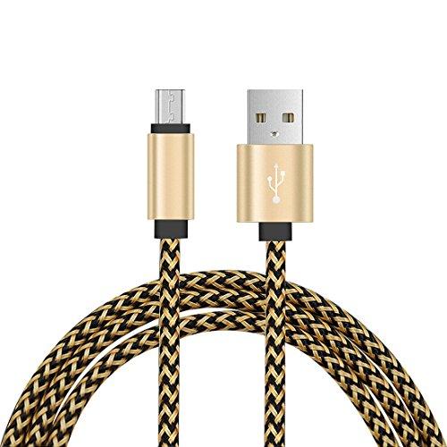 Bee-eaters Micro-USB-Kabel High Speed USB 2.0 A Stecker an Micro-B - Kabelgebühr und Synchronisierung mit Datenübertragung für Android-Geräte, Samsung Galaxy, HTC, Motorola, Sony, Huawei, Nexus, LG, Sprint und mehr (2m, golden)