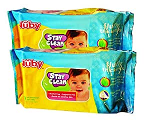 Nuby Comfort Baby Wipes (80 Sheets) - Pack of 2