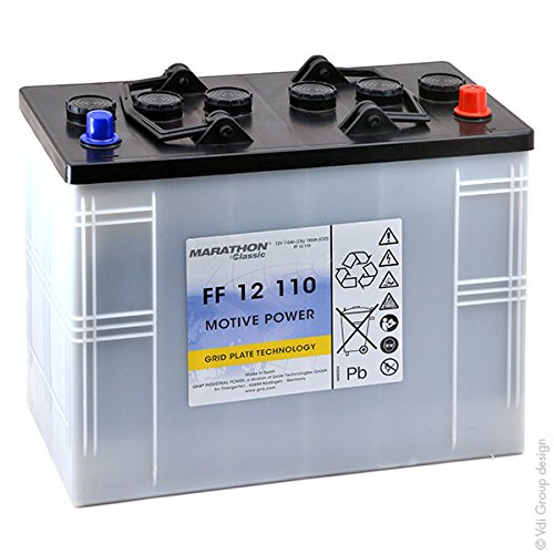 GNB Classic FF - Batteria Piombo da Trazione MARATHON Classic FF12110 12V 110Ah Auto