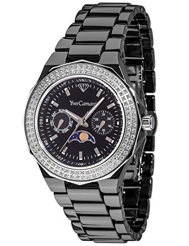 a4683828e6 Yves Camani Laval YC1009-F Ladies Watch Quartz Analogue Ceramic Black  Moonphase