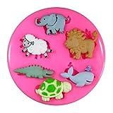 Baby-Tier-Löwe-Wal Schaf Crocodile Schildkröte SilikonForm für Kuchen Dekorieren, Kuchen, kleiner Kuchen Toppers, Zuckerglasur, Fondantform, Sugarcraft Werkzeug durch Fairie Blessings