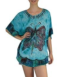 S&LU sommerliches Damen Tunika Bluse Hippie Größe: one size M - 4XL