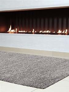 benuta Shaggy Hochflor Teppich Swirls Grau 60x60 cm   Langflor Teppich für Schlafzimmer und Wohnzimmer