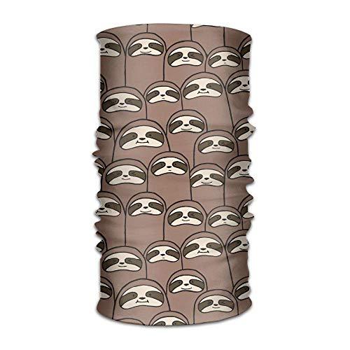 FAFANIQ Lovely Sloth Faces Unisex Breathable Headband Bandanas Headwear Balaclava Neck Gaiter Magic Scarf UV Protection for Daily Activities