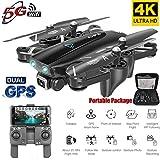 XuBa S167 GPS Drone avec Caméra 5G Quadricoptère RC Drone 4K WiFi FPV Pliable Off-Point Flying Gesture Photos Vidéo Hélicoptère Jouet 5G 4K 3 Batterie Cadeau de Noel Halloween