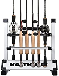 KastKing Rod Rack Rutenständer Portable Aluminum 12 - 24 Angelruten - Intelligentes Design , Für Baitcast - Spinnrute mit Angelrolle , Rutensortieren unterwegs , Zu Hause oder im Garage - Sorgenfreie 3 Jahre Garantie